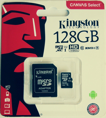 Memoria Micro Sd 128gb Kingston / 25