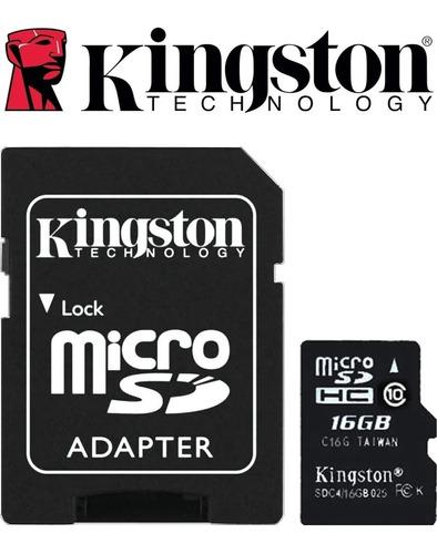 Memoria Micro Sd 16 Gb Marca Kingston Clase 10