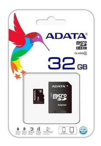 Memoria Micro Sd Adata 32 Gb 80 Mb/s Full Hd Original