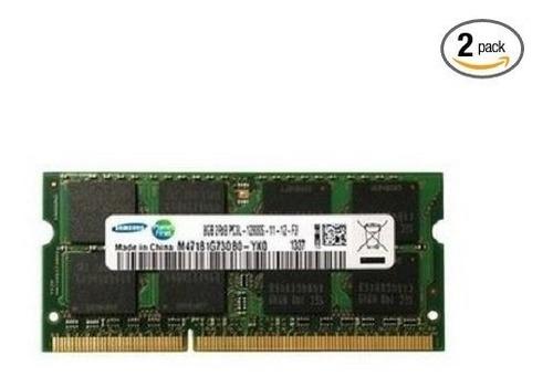 Memoria Ram Samsung 16gb Kit 2x8gb Ddr3 Pc3l mhz Laptop