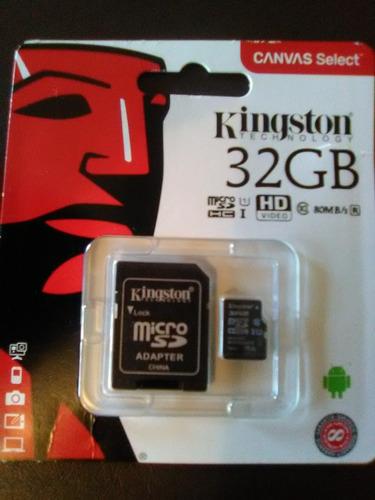 Memorias Micro Sd 32 Gb Kingston Clase 10 Original