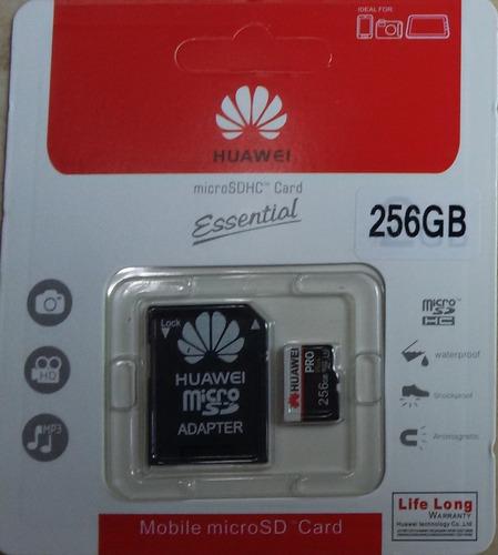 Micro Sd Tarjeta De Memoria 256 Gb Huawei + Adaptador Usb