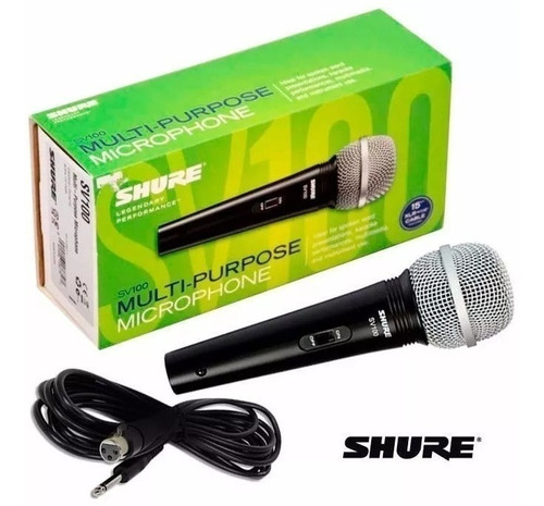 Microfono Shure Sv100 Con Su Cable Nuevos