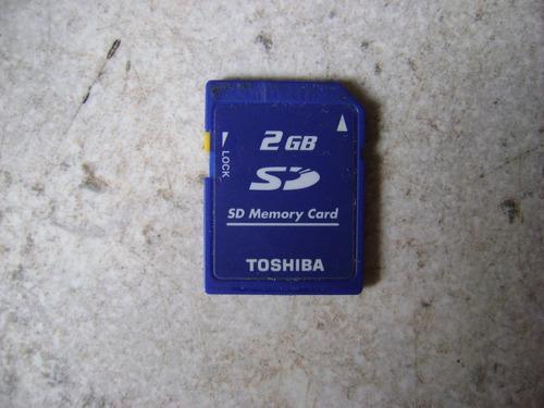 Tarjeta De Memoria Sd 2gb Marca Toshiba Para Cámaras Y 3ds