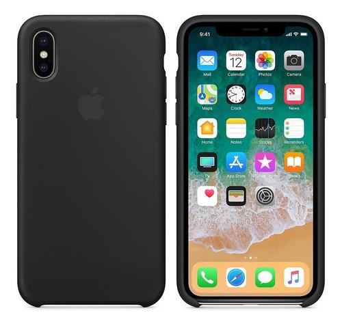 Estuche iPhone X / Xs Apple Silicone Color Negro