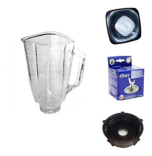 Kit Para Licuadora Oster Vaso De Vidrio Cuchilla Americana