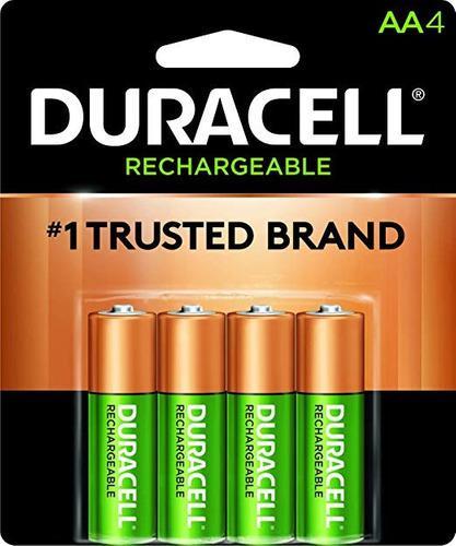 Baterías Pilas Recargables Duracell Aa, 4 Ccs Y Val 14