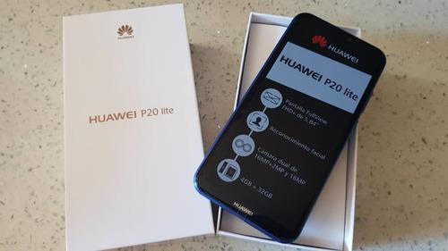 Huawei P20 Lite Azul Dual Sim 32 Gb Y 4 Gb Ram. En 200 Vrds.