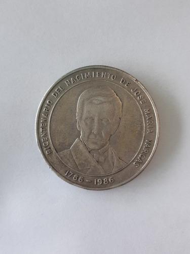 Moneda 100 Bs Bicentenario Nacimiento José María Vargas