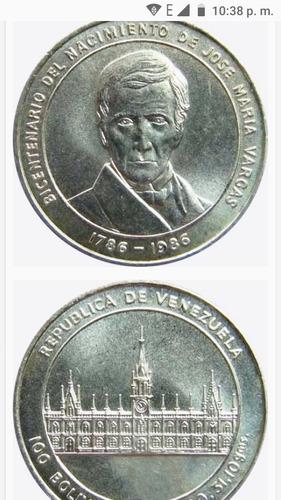 Moneda De Plata Bicentenario Dr José María Vargas
