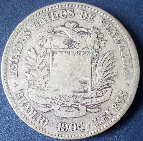 Moneda De Plata De 2 Bolívares Del Año