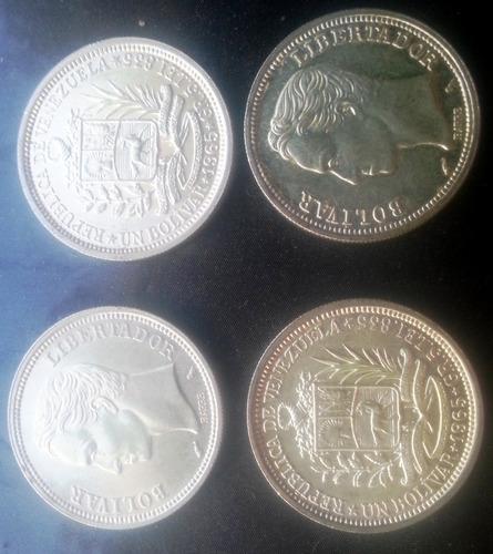 Monedas 1bs. Plata Lei.835. Años  Y