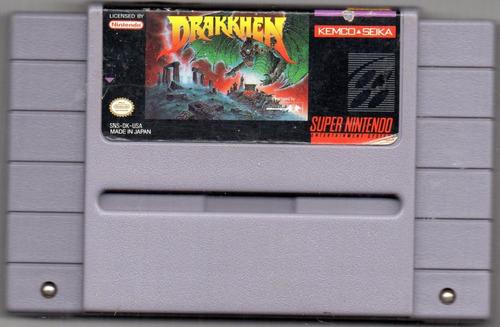 Drakkhen. Super Nintendo. Video Juego Original Usado Qq A8