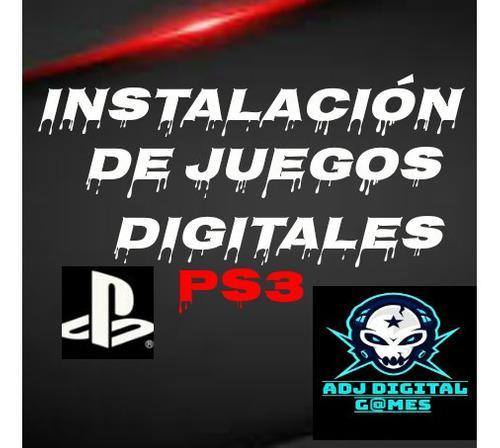 Instalación De Juegos Digitales Para Ps3 Entrega Inmediata