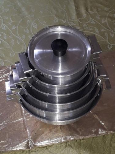 Juego De Ollas 11 Piezas Aluminio