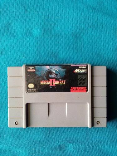 Mortal Kombat 2 Para Super Nintendo Nes Original.