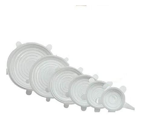 Set De Tapas Silicona Ajustables Para Todo Tipo De Envases
