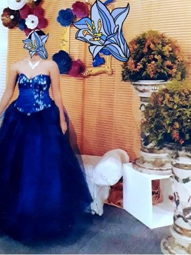 Vestido De 15 Años Usado Color Azul