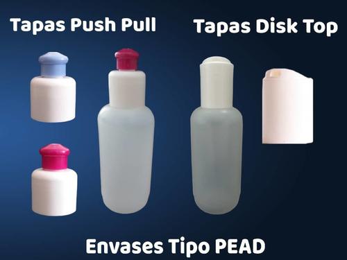 Énvases Plásticos De 120 Ml Con Tapa Tipo Disk Top