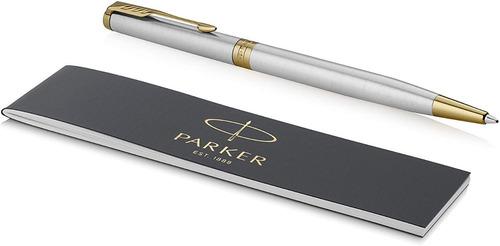 Boligrafo Parker Sonnet Slim En Acero Inoxidable 100% Origin