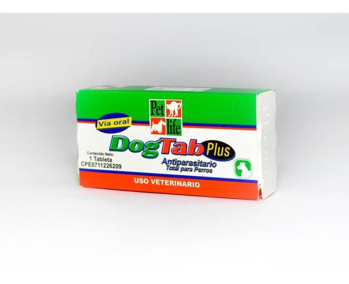Dog Tab Plus 1 Tab Desparasitante Perros Mascota Combo 2und