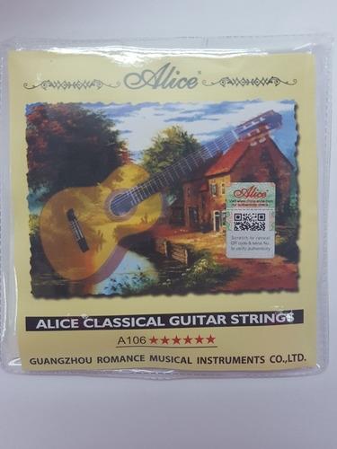 Juego De Cuerdas Para Guitarra Clásica De Nylon Alice