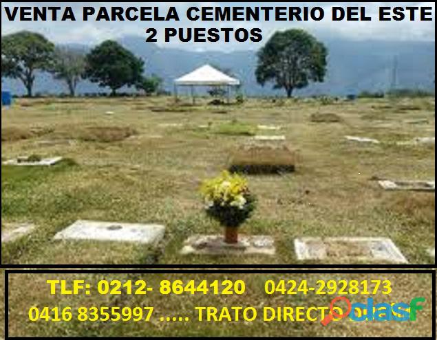 Parcelas Cementerio del Este. Excelente ubicación. mayo