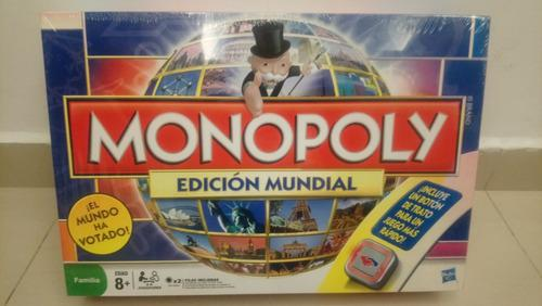 Juego De Mesa Monopolio Edición Mundial Nuevo