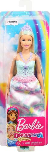 Muñeca Barbie Princesa Dreamtopia Mattel Juguete 22 Verdes