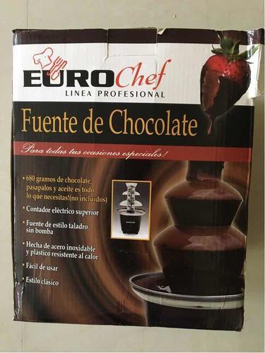 Fuente De Chocolate Eurochef De 3 Niveles