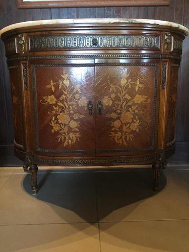 Mueble Antiguo Con Marqueteria Y Onix Leer Descripciòn