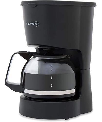 Cafetera Premium 4 Tazas 600w Negro Nuevo