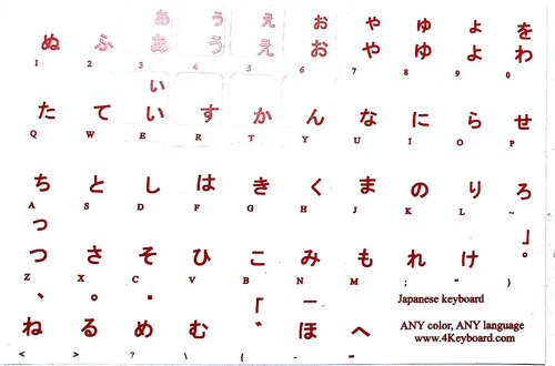 Calcomania Idioma Teclado Ruso Hebreo Arabe Chino Frances Y+