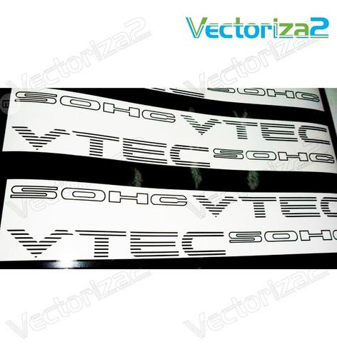 Calcomanias Dohc Sohc Vtec Par Honda Civic Accord