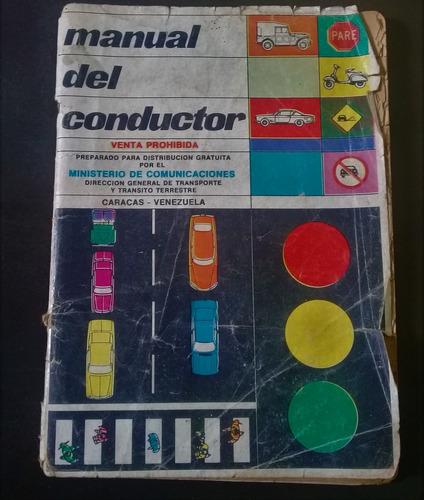 Antiguo Libro Manual Conductor 10 Caracas Venezuela