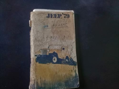 Manual De Usuario 30 Jeep Wagoneer J10 J20 Cj7 Cj5