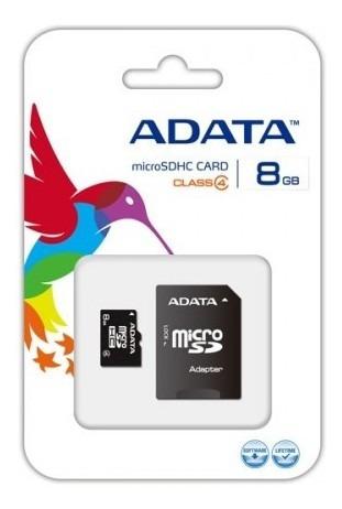 Memoria 8gb Micro Sd Adata Con Adaptador Sd Ausdh8gcl4-ra1
