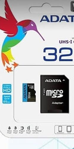 Memoria Micro Sd 32gb Adata Clase10 Sellada Nueva