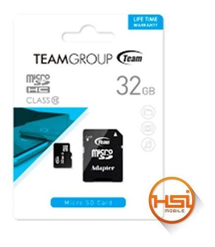 Memoria Micro Sd 32gb Team Group Garantia 6 Meses
