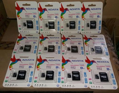 Memoria Micro Sd 8 Gb Clase 10 Adata Originales