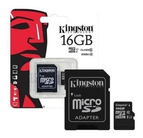 Memoria Micro Sd Hc 16gb Kingston Canvas Original Sellada.