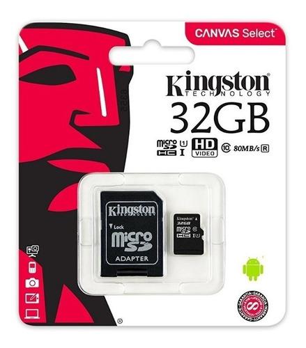 Memoria Micro Sd Hc 32gb Kingston Canvas Original Sellada