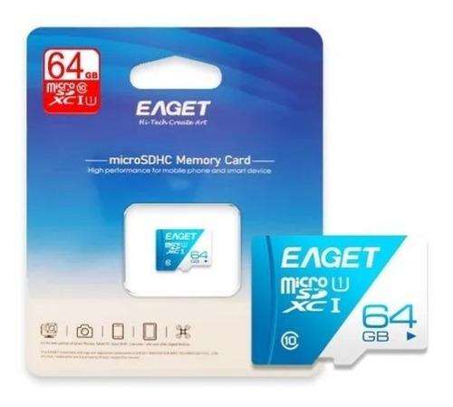 Memoria Micro Sd T1 64gb Clase 10 + Adaptador Eaget Gs