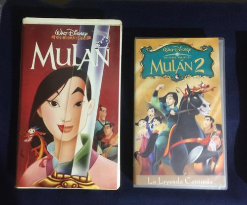 Película Mulán Y Mulán 2 De Disney Vhs Colección Vintage