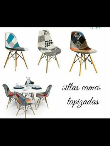 Combo 4 Sillas Eames Comedor + Mesa Comedor Pata Lapiz