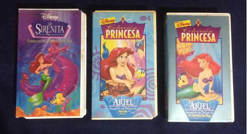 Película La Sirenita Disney Originales Vhs Colección