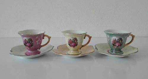 Set 3 Tazas + Platos, Juego De Té De Princesas De Porcelana