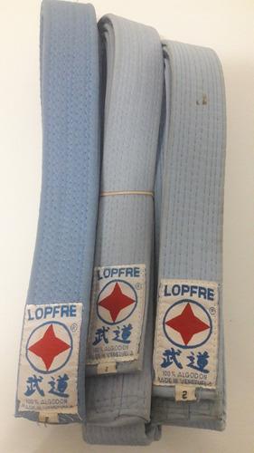 Cintas Karate Lopfre Usadas Naranja Amarilla Azul Celeste