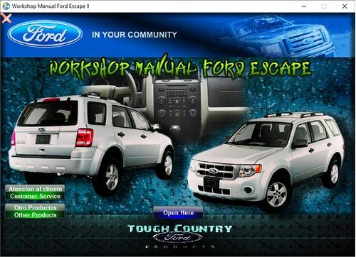 Manual De Taller Y Reparación Para El Ford Escape