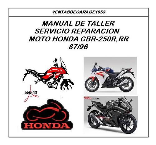 Manual Taller Reparación Diagramas Moto Honda Cbr 250r Rr